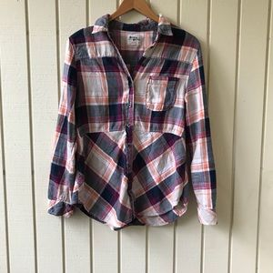 Anthropologie Holding Horses Flannel Top
